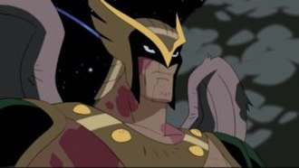 Hawkman - Hro Talak as seen in Justice League Unlimited.