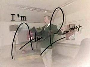 I'm Alan Partridge - Title screen, featuring Steve Coogan as Alan Partridge, wearing his trademark green blazer (1997)