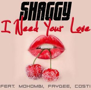 Habibi (I Need Your Love) - Image: I Need Your Love Shaggy Mohombi Faydee Costi