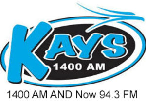 KAYS (AM) - Image: KAYS 1400 94.3 logo Edited
