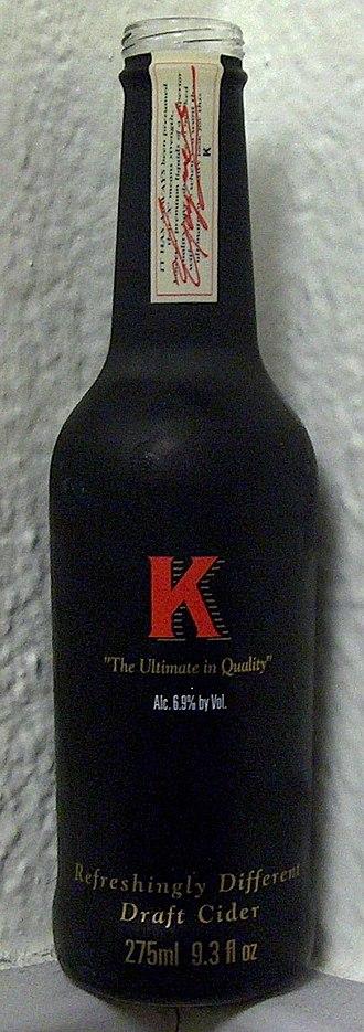 K (cider) - United States bottled version.