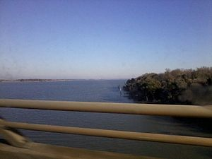 Texas State Highway 6 - A view from the Highway 6 bridge crossing Lake Waco