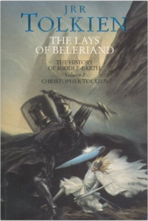 """The Lays of Beleriand - Front cover titled """"Fingolfin's Challenge"""" by John Howe"""