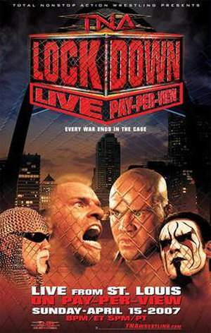 Lockdown (2007) - Promotional poster featuring various TNA wrestlers