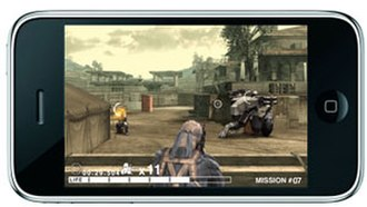 Metal Gear Solid Touch - Old Snake in action.