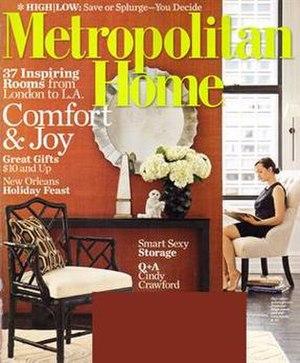Metropolitan Home - Image: Metropolitan Home Magazine Cover