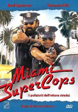 Miami Supercops - Italian DVD cover - Art by Renato Casaro