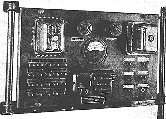 Submarine mines in United States harbor defense - A mine casemate had a control panel like this for each 19-mine group under its command. The controls were used to test and to fire the mines.