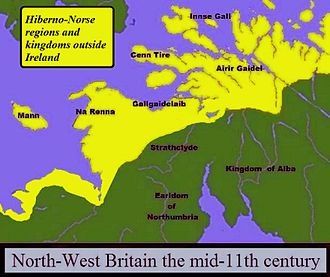 History of the Isle of Man - 11th century (north is to the right)