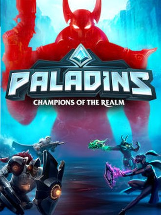 Paladins (video game) - Xbox store artwork, featuring the game's playable character classes