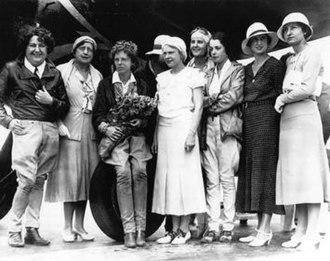 Elizabeth Lippincott McQueen - From left, Pancho Barnes, Elizabeth Lippincott McQueen, Amelia Earhart.