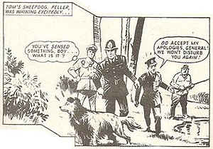 """John Wagner - """"Patridge's Patch"""", from Jet, co-written with Pat Mills, illustrated by Mike Western, 1971."""