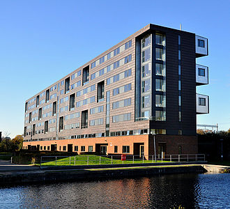 Queen Mary University of London - Pooley House, the largest campus building, on the edge of Regent's Canal