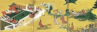 Saiō - Image from the Tale of Genji showing what life at Saikū might have been like