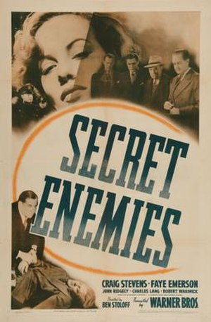 Secret Enemies - Theatrical release poster