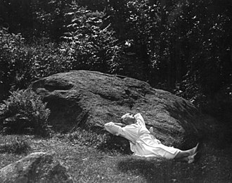 Jacob's Pillow Dance - Ted Shawn laying his head upon the Jacob's Pillow Rock.