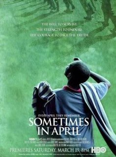 <i>Sometimes in April</i> 2005 television film directed by Raoul Peck