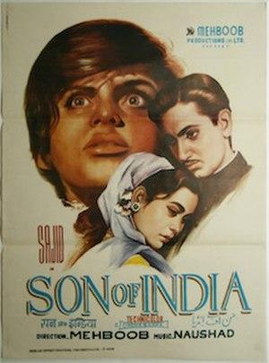 Son of India (1962 film) - Film poster
