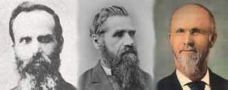 South Pacific Division of Seventh-day Adventists - From left-to-right: Israel, Haskell and Corliss. Some of the first pioneers of the Adventist Church in the South Pacific.