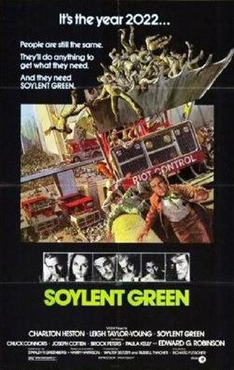 Soylent Green - Theatrical release poster by John Solie