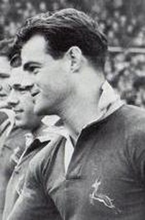 Stephen Fry (rugby player) - Fry before the England Match in 1952