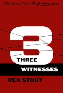 <i>Three Witnesses</i> (book) book by Rex Stout