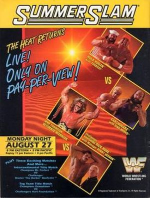 SummerSlam (1990) - Promotional poster