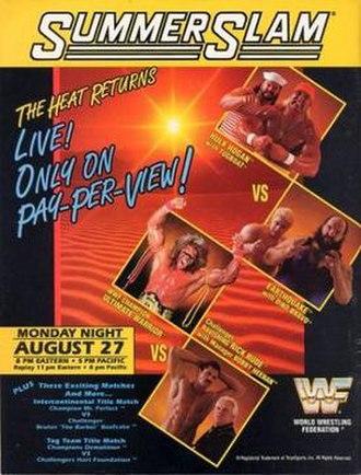 SummerSlam (1990) - Promotional poster