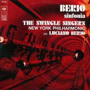 Sinfonia (1968 Berio album) - Image: Swingle Singers And NY Philharmonic Berio Sinfonia CBS