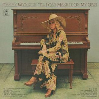 'Til I Can Make It on My Own (album) - Image: Tammy Wynette Til I Can Make It On My Own