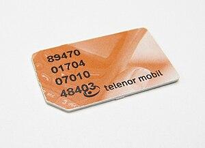 Old Style Telenor Mobile SIM