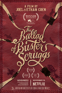 Image result for the ballad of buster scruggs poster