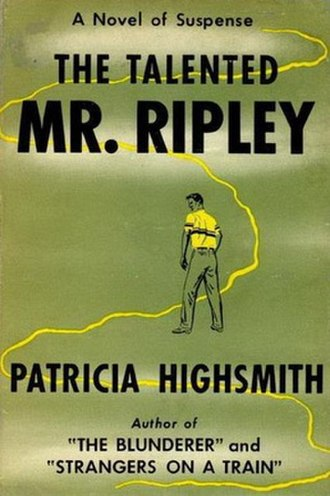 Patricia Highsmith - Cover of The Talented Mr. Ripley (1955).