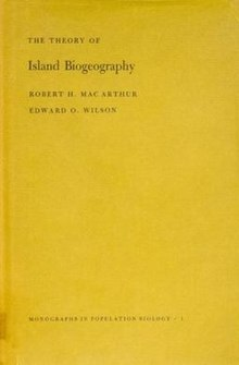 The Theory of Island Biogeography, first edition.jpg