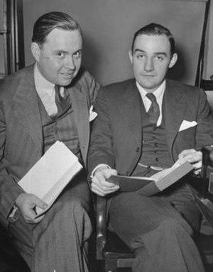 Turner Catledge - Turner Catledge (left) sitting with columnist Joseph Alsop (right) at the White House.