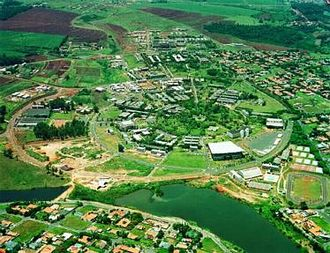 University of Campinas - Aerial view of the main campus in the late 1990s