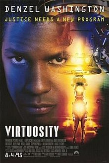 Virtuosity (1995) (In Hindi) SL DM -  Denzel Washington, Russell Crowe, Kelly Lynch, Stephen Spinella, William Forsythe, Louise Fletcher, William Fichtner, Kevin J. O'Connor, and Kaley Cuoco