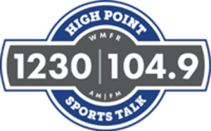 WMFR - Image: WMFR Sports Talk 1230 104.9 logo