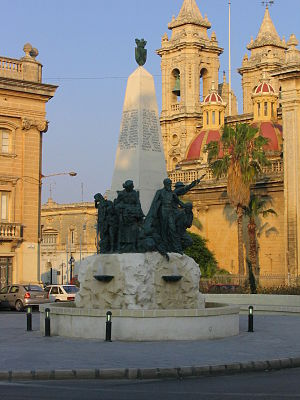 Żabbar - World War II monument in Żabbar