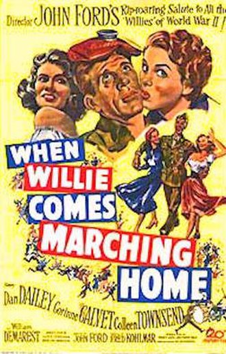 When Willie Comes Marching Home - 1950 Theatrical Poster