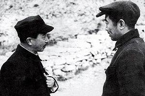 Sanzō Nosaka - Zhou Enlai and Sanzō Nosaka ( left ) in Yan'an.