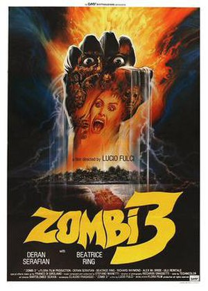 Zombi 3 - Theatrical release poster