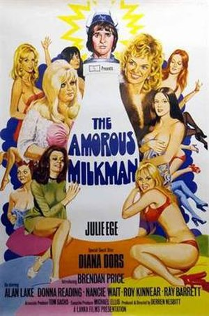 The Amorous Milkman - UK 1-sheet poster by Tom Chantrell