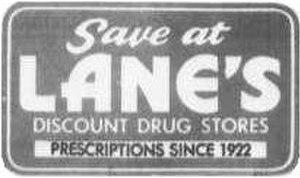 Lane Drug - Image: 1970s Lanes Logo