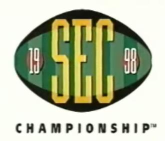 1998 SEC Championship Game - 1998 SEC Championship logo.