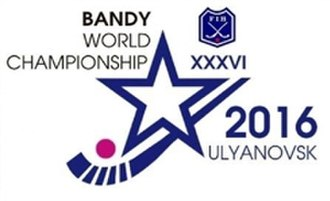 2016 Bandy World Championship - Image: 2016 Bandy World Championship logo