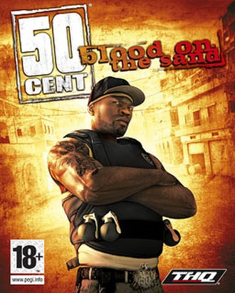 50 Cent: Blood on the Sand - European cover art
