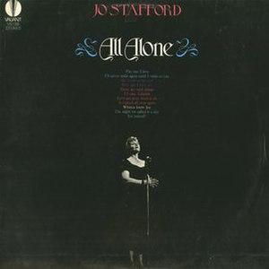All Alone (Jo Stafford album) - Image: All Alone Jo Stafford Album