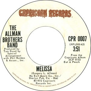 Melissa (song) - Image: Allman Bros Melissa