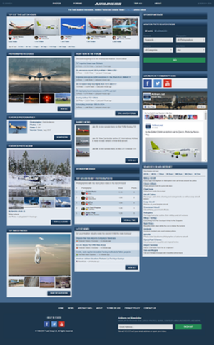 Airliners.net - Image: Anet frontpage